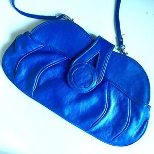 Vintage Bag | 80s Electric Blue Clutch